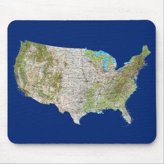 Mapa Mousepad de los E.E.U.U. Alfombrillas De Ratón