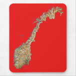 Mapa Mousepad de Noruega Alfombrillas De Ratón