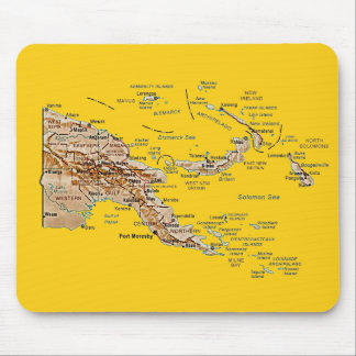 Mapa Mousepad de Papúa Nueva Guinea Tapetes De Ratón