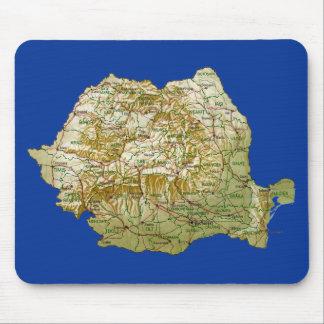 Mapa Mousepad de Rumania