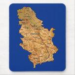 Mapa Mousepad de Serbia Alfombrillas De Raton