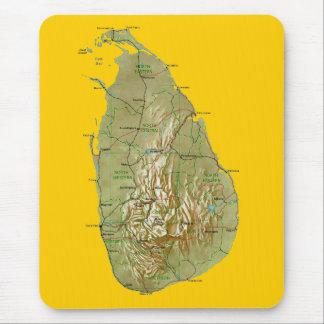 Mapa Mousepad de Sri Lanka