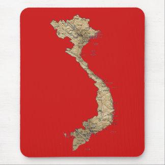 Mapa Mousepad de Vietnam Tapetes De Ratones