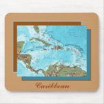 Mapa Mousepad del Caribe Alfombrillas De Raton
