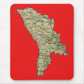 Mapa Mousepad del Moldavia Alfombrilla De Ratón