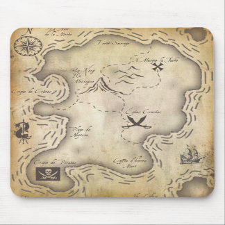 Mapa Mousepad del pirata