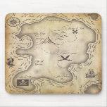Mapa Mousepad del pirata Alfombrilla De Ratones
