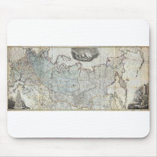 Mapa mural 1787 del imperio ruso tapete de ratón