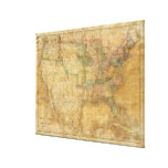 Mapa mural 1839 de David H. Burr de los Estados Un Impresion En Lona