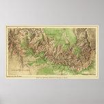 Mapa nacional de ParkPanoramic del Gran Cañón Poster