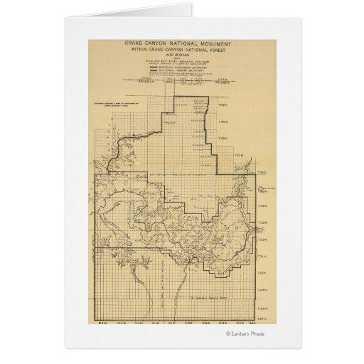 Mapa nacional de ParkPanoramic del Gran Cañón Tarjetas