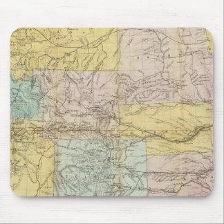 Mapa nacional del territorio de los Estados Unidos Alfombrilla De Raton