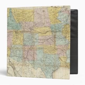 """Mapa nacional del territorio de los Estados Unidos Carpeta 1 1/2"""""""