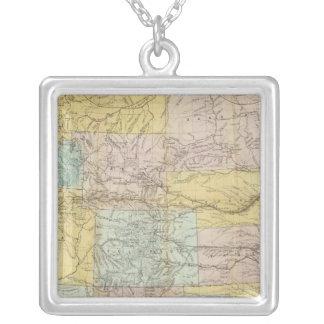 Mapa nacional del territorio de los Estados Unidos Collar Personalizado