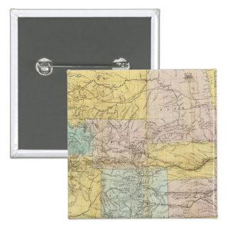 Mapa nacional del territorio de los Estados Unidos Pin Cuadrado