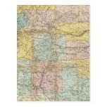 Mapa nacional del territorio de los Estados Unidos Tarjetas Postales