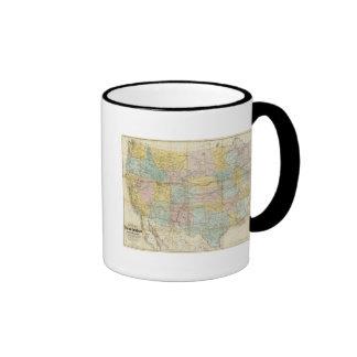 Mapa nacional del territorio de los Estados Unidos Taza