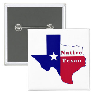 Mapa nativo de la bandera del Texan Pin
