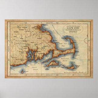 Mapa náutico de Cape Cod Posters