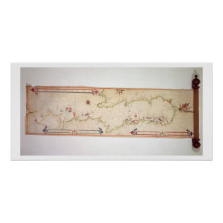 Mapa náutico miniatura del Adriático, 1624 (parc Póster