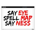 Mapa Ness del ojo Skins Para 43,2cm Portátil