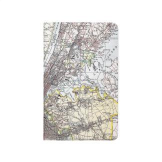 Mapa: New York-area, 1906 Cuaderno Grapado