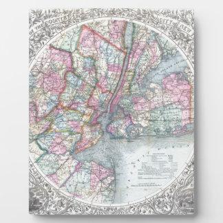 Mapa New York City Placa De Plastico
