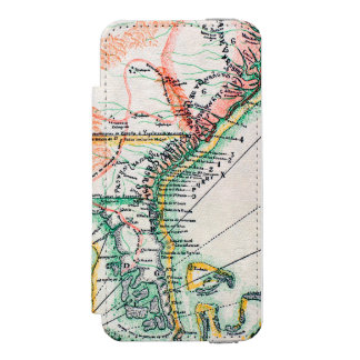 Mapa: Norteamérica, 1742 Funda Billetera Para iPhone 5 Watson