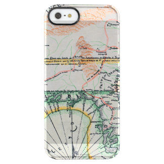 Mapa: Norteamérica, 1742 Funda Clearly™ Deflector Para iPhone 5 De Uncommon