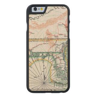 Mapa: Norteamérica, 1742 Funda De iPhone 6 Carved® De Arce