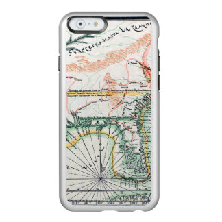 Mapa: Norteamérica, 1742 Funda Para iPhone 6 Plus Incipio Feather Shine