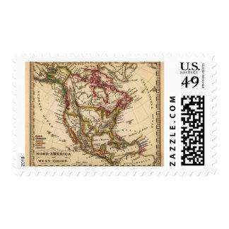 Mapa norteamericano 2 estampilla