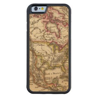 Mapa norteamericano 2 funda de iPhone 6 bumper arce