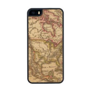 Mapa norteamericano 2 funda de madera para iPhone 5