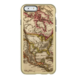 Mapa norteamericano 2 funda para iPhone 6 plus incipio feather shine