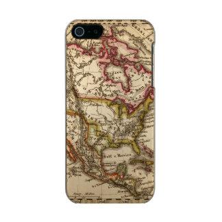 Mapa norteamericano 2 funda para iPhone 5 incipio feather shine