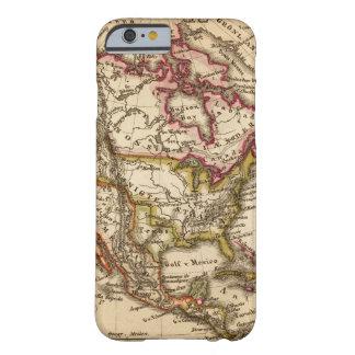 Mapa norteamericano 2 funda para iPhone 6 barely there