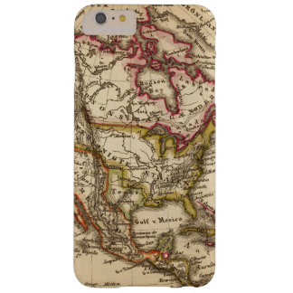 Mapa norteamericano 2 funda para iPhone 6 plus barely there