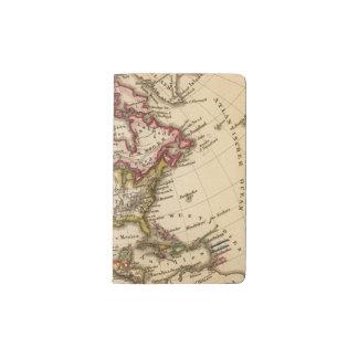 Mapa norteamericano 2 funda para libreta y libreta pequeña moleskine