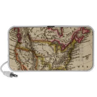 Mapa norteamericano 2 iPod altavoces