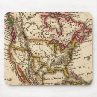 Mapa norteamericano 2 mousepad