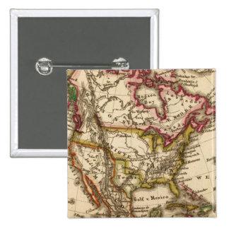 Mapa norteamericano 2 pin cuadrado