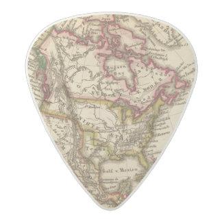 Mapa norteamericano 2 púa de guitarra acetal