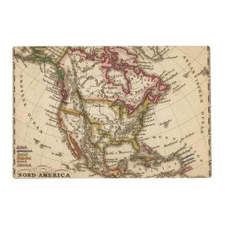 Mapa norteamericano 2 tapete individual