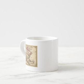 Mapa norteamericano 2 taza espresso