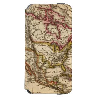 Mapa norteamericano 2 funda cartera para iPhone 6 watson