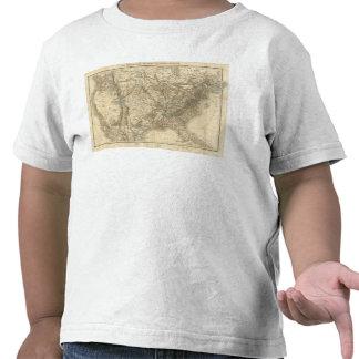Mapa norteamericano camisetas