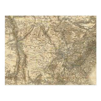 Mapa norteamericano postales