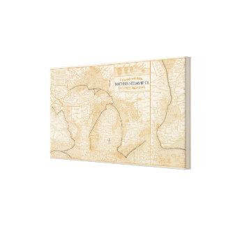 Mapa Northern Steamship Company Impresiones De Lienzo