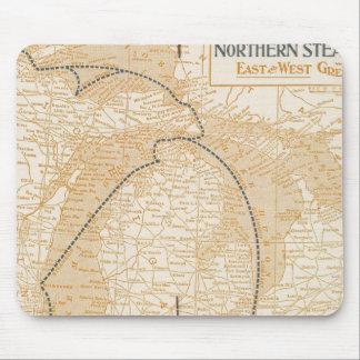 Mapa Northern Steamship Company Mouse Pads